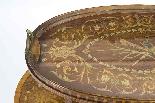 Antique English Mahogany & Satinwood Etagere Tray Table-2