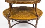 Antique English Mahogany & Satinwood Etagere Tray Table-5
