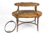 Antique English Mahogany & Satinwood Etagere Tray Table-8