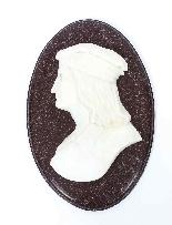 Antique Italian Marble Profile Plaques of Virgil & Dante-1