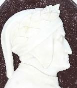 Antique Italian Marble Profile Plaques of Virgil & Dante-5