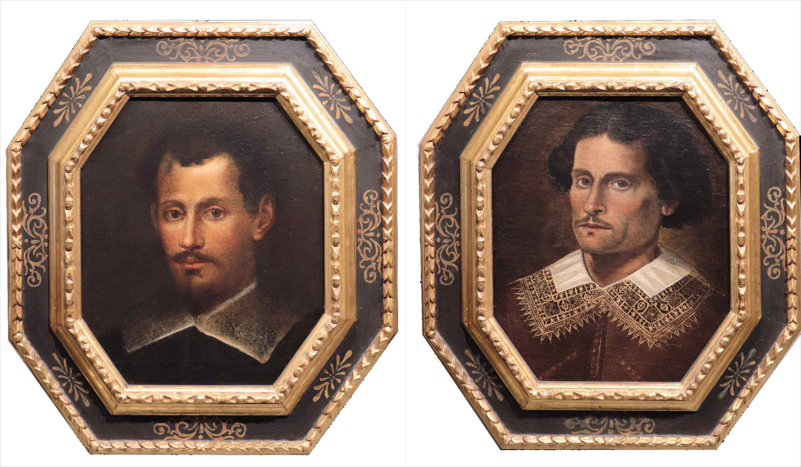 Pair of portraits of characters, 18th century