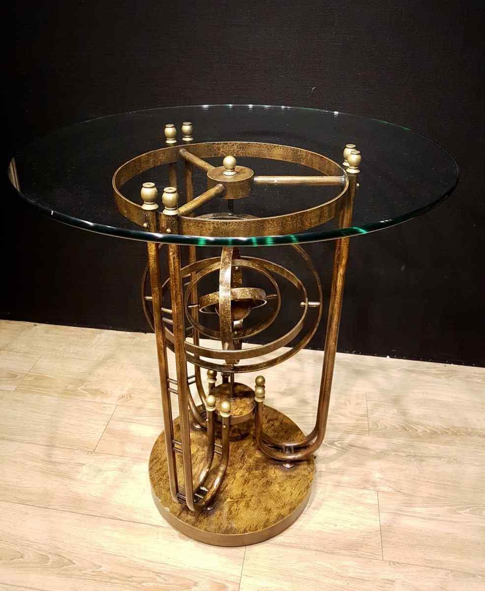 Tavolo Gueridon articolato con sfera armillare, XX secolo (1