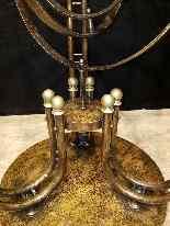 Tavolo Gueridon articolato con sfera armillare, XX secolo (1-0