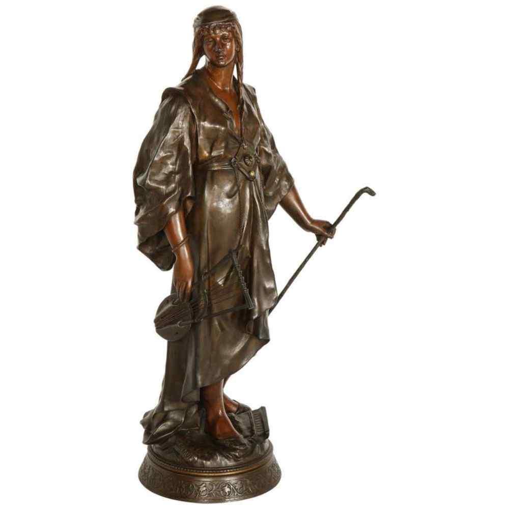 Emile-Louis Picault, una figura di bronzo orientalista franc
