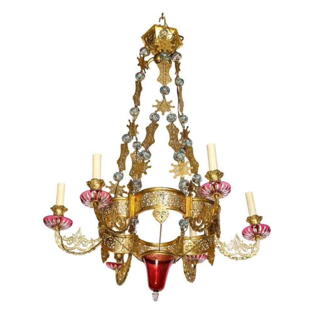 Bronze Alhambra islamique exceptionnel et rare et émaillé Gl