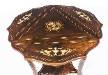 Antique Edwardian Triple Drop Flap Occasional Side Table-7