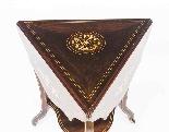 Antique Edwardian Triple Drop Flap Occasional Side Table-3
