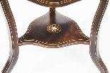 Antique Edwardian Triple Drop Flap Occasional Side Table-6
