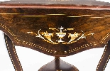 Antique Edwardian Triple Drop Flap Occasional Side Table-8