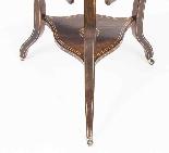 Antique Edwardian Triple Drop Flap Occasional Side Table-4