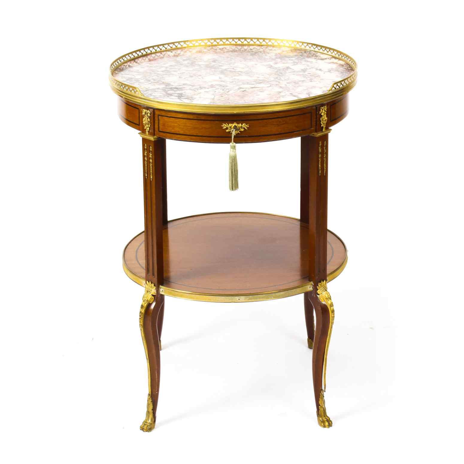 Antique French Marble & Ormolu Occasional Table 19th C
