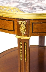 Antique French Marble & Ormolu Occasional Table 19th C-5