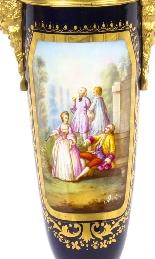 Antique Sevres Porcelain Ormolu Table Lamp 19th C-0