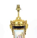 Antique Sevres Porcelain Ormolu Table Lamp 19th C-5