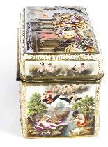 Antico cofanetto da tavolo in porcellana di Capodimonte, Ita-5