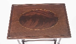 Antique Victorian Mahogany & Inlaid Nest of 3 Tables c.1880-3