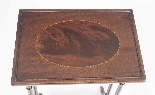 Antique Victorian Mahogany & Inlaid Nest of 3 Tables c.1880-4