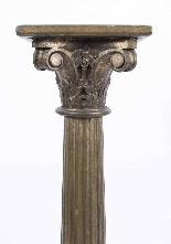 Paire de piédestaux de colonne corinthienne antique c.1900-4