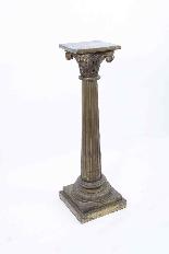 Antique Pair Corinthian Column Pedestals c.1900-1