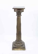 Antique Pair Corinthian Column Pedestals c.1900-2