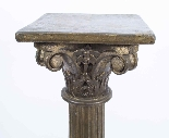 Paire de piédestaux de colonne corinthienne antique c.1900-6
