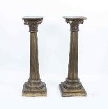 Antique Pair Corinthian Column Pedestals c.1900-3