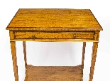 Antique Sheraton Revival Satinwood Occasional Side Table-1