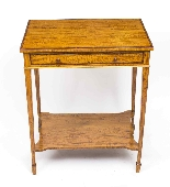 Antique Sheraton Revival Satinwood Occasional Side Table-3