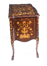 Commode Antique en Marqueterie d'Acajou Hollandais 19ème-8