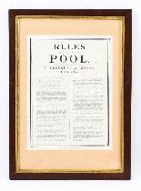 Antico tabellone segnapunti vittoriano per piscina e 2 stamp-3
