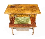 Antique Edwardian Inlaid Workbox Side Occasional Table-7