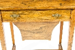 Antique Edwardian Inlaid Workbox Side Occasional Table-2