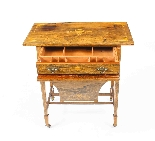 Antique Edwardian Inlaid Workbox Side Occasional Table-4
