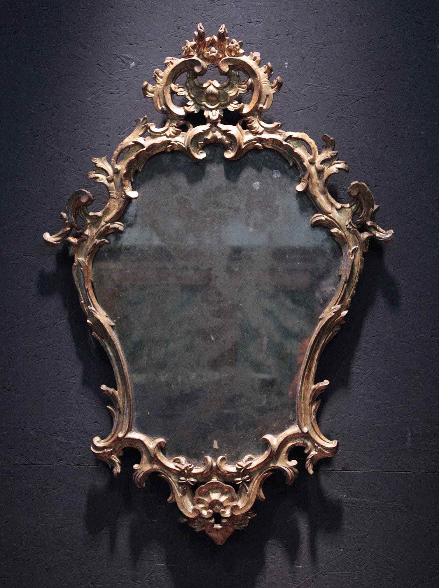 Miroir doré, Lombardie, Louis XV