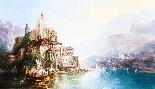 Dipinto ad olio su tela antico paesaggio XIX secolo-2