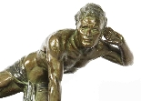 Scultura in bronzo antico Art Déco Jean De Roncourt-0