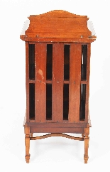 Antique Victorian Satinwood & Inlaid Bedside Cabinet 19th C-6