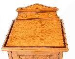 Comodino antico vittoriano in raso e intarsio del XIX secolo-3