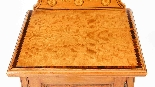 Comodino antico vittoriano in raso e intarsio del XIX secolo-4