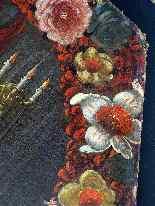 L'Ultima Cena in una ghirlanda di fiori Scuola olandese 16 °-3