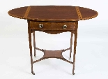 Antique Edwardian Inlaid Occasional Table c.1900-3