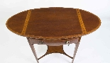 Antique Edwardian Inlaid Occasional Table c.1900-4