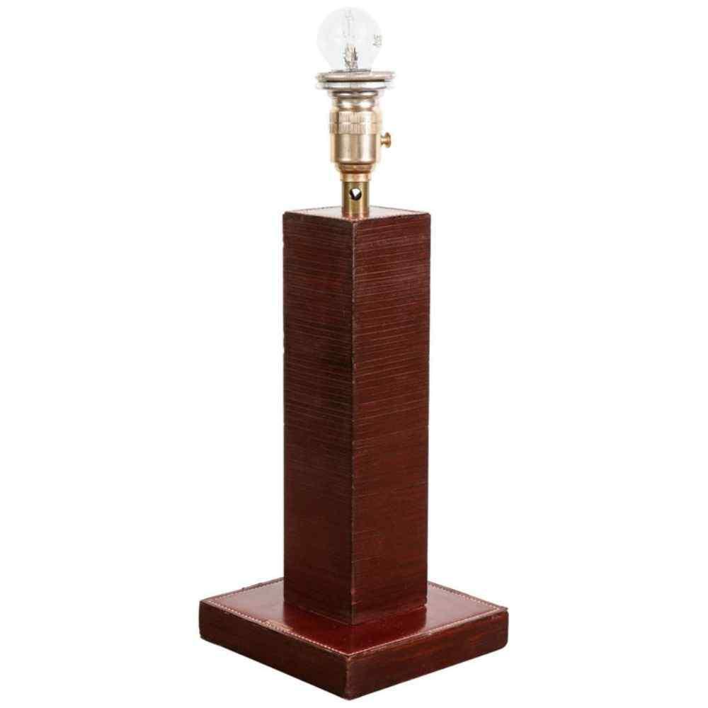 Paul Dupre-Lafon per Hermes Paris, lampada da tavolo in pell
