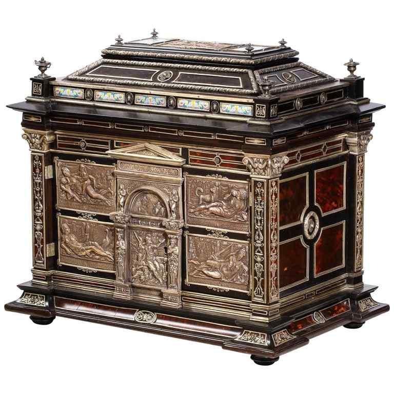 Importante ebreo tartarugato montato su smalto argento e vie