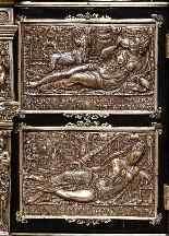 Importante ebreo tartarugato montato su smalto argento e vie-9