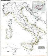 Antica mappa d'Italia disegnata e incisa R. Scott per Thomso-4