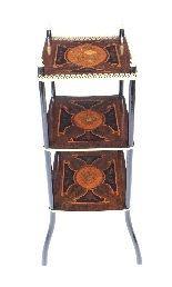 Antique French Marquetry & Ormolu Three-tier Etagere Table-1