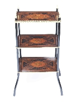 Antique French Marquetry & Ormolu Three-tier Etagere Table-3