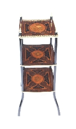Antique French Marquetry & Ormolu Three-tier Etagere Table-4